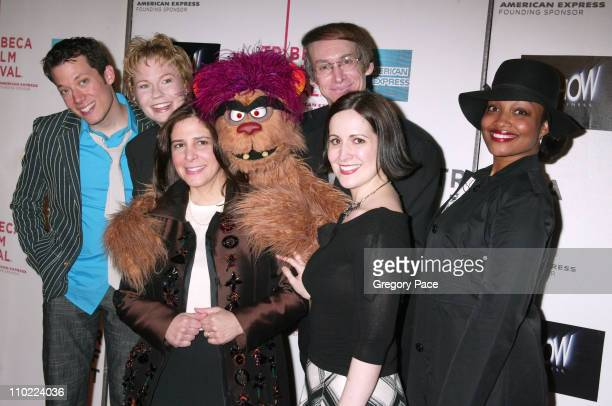 Avenue Q cast with Dori Berinstein director of the film and broadway producer