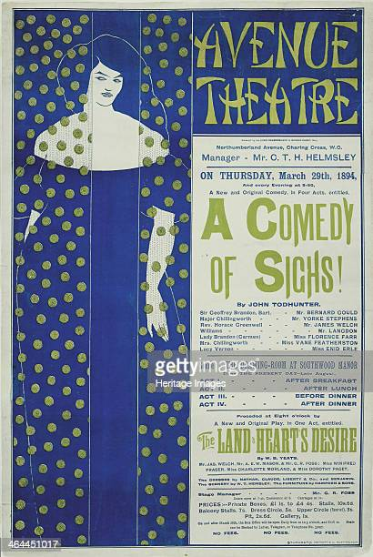 Avenue Theater A Comedy of Sighs 1894 From a private collection
