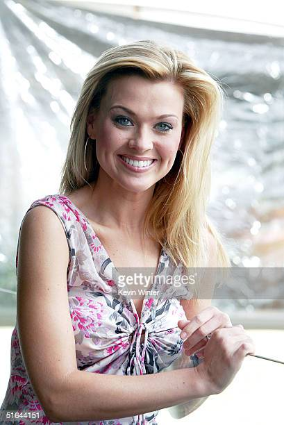 Average Joe's Melana Scantlin poses after announcing she will cohost GSN's World Series of Blackjack at GSN's 2004 TCA Winter Tour at the Hollywood...