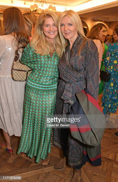 Avery Agnelli and Amanda Wakeley attend the 6th annual Lady Garden Foundation ladies lunch at Fortnum Mason on September 26 2019 in London England