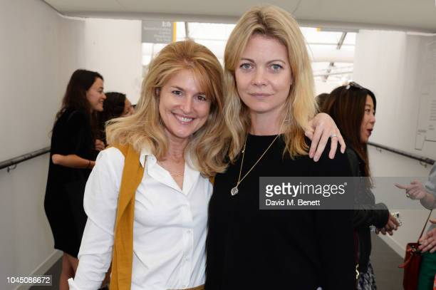 Avery Agnelli and Jemma Wellesley Marchioness of Douro attend a VIP Preview of the Frieze Art Fair in Regents Park on October 3 2018 in London England