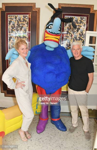 Avery Agnelli and John Frieda attend a private screening of Yellow Submarine hosted by Stella McCartney to celebrate the upcoming launch of the 'All...