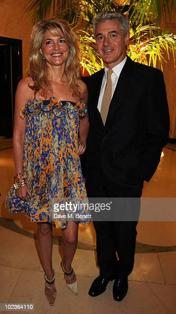 Avery Agnelli and John Frieda attend the Diane Von Furstenberg and Claridge's launch party at Claridge's on June 23 2010 in London England