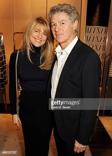 Avery Agnelli and John Frieda attend the ESCADA/Harper's Bazaar book reading with Fatima Bhutto reading from her novel The Shadow Of The Crescent...