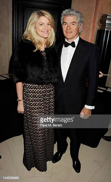 Avery Agnelli and John Frieda attend the Marie Curie Cancer Fundraiser hosted by Heather Kerzner at Claridge's Hotel on May 15 2012 in London England