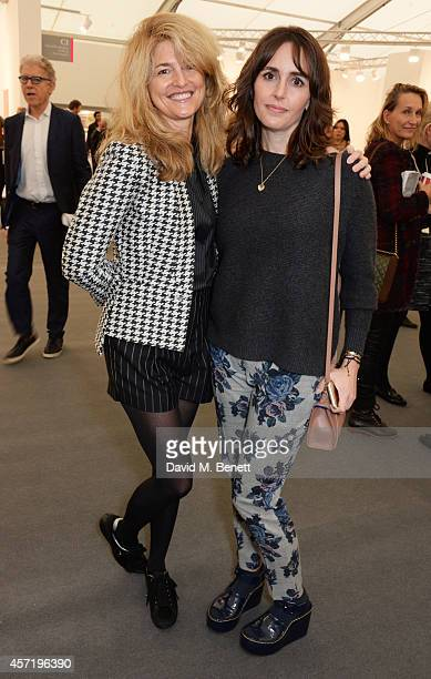 Avery Agnelli and Tania Fares attend VIP Preview of the Frieze Art Fair 2014 in Regent's Park on October 14 2014 in London England
