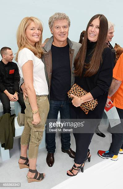 Avery Agnelli John Frieda and Elizabeth Saltzman Walker attend the Hunter Original SS 2015 catwalk show at on September 13 2014 in London England