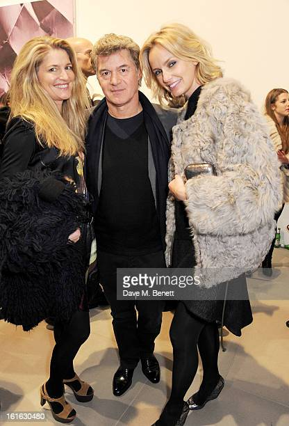 Avery Agnelli John Frieda and guest attend a private view of 'Mat Collishaw This Is Not An Exit' at Blaine/Southern Gallery on February 13 2013 in...
