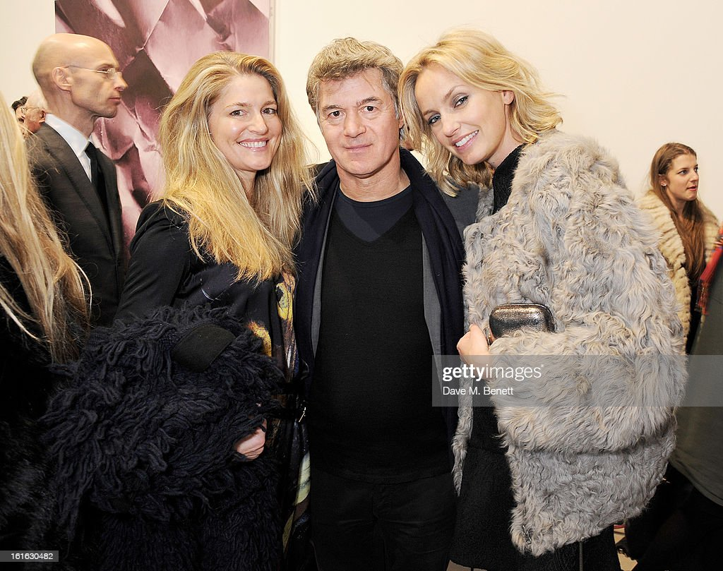 Avery Agnelli, John Frieda and guest attend a private view of 'Mat Collishaw: This Is Not An Exit' at Blaine/Southern Gallery on February 13, 2013 in London, England.