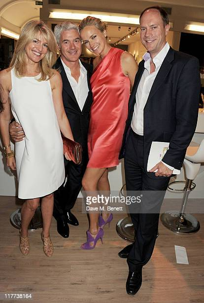 Avery Agnelli John Frieda and guests attend the Masterpiece Midsummer Party in aid of Clic Sargent at The Royal Hospital Chelsea on June 30 2011 in...