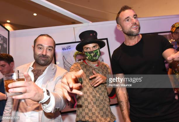 Avery Andon Alec Monopoly and Philipp Plein attend Haute Living's VIP PopUp Opening Of Alec Monopoly From Art Life And David Yarrow From Maddox...