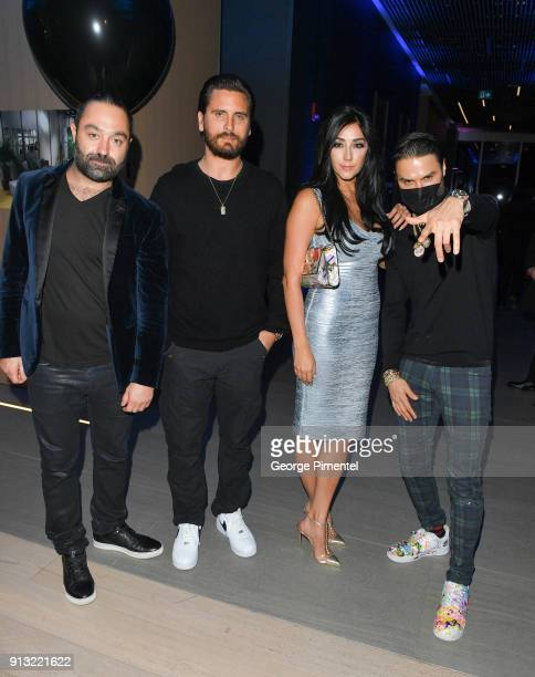 Avery Andon Scott Disick Monica Gomez and Alec Monopoly celebrate The 5 year Anniversary Of The Concierge Club at The Globe and Mail Centre on...