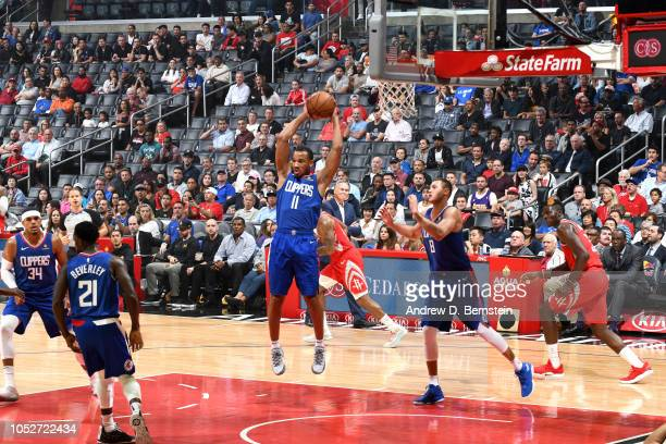 Avery Bradley of the LA Clippers shoots the ball against the Houston Rockets on October 21 2018 at Staples Center in Los Angeles California NOTE TO...