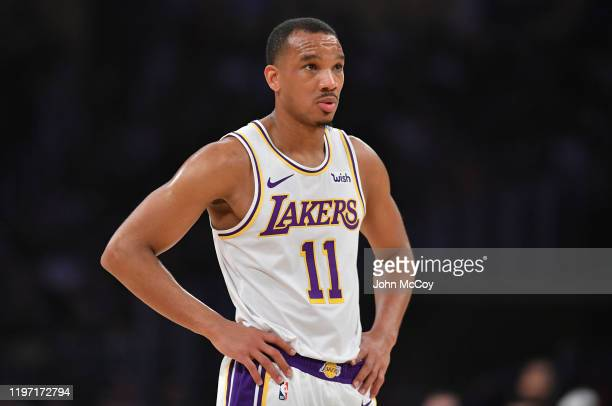 Avery Bradley of the Los Angeles Lakers plays the Phoenix Suns at Staples Center on January 1 2020 in Los Angeles California NOTE TO USER User...
