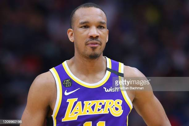 Avery Bradley of the Los Angeles Lakers reacts against the New Orleans Pelicans during the second half at the Smoothie King Center on March 01, 2020...