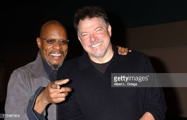 Avery Brooks and Jonathan Frakes during Creation Entertainment's 2006 The SciFi Summit The Grand Slam Show Day Three at Pasadena Civic Auditorium in...