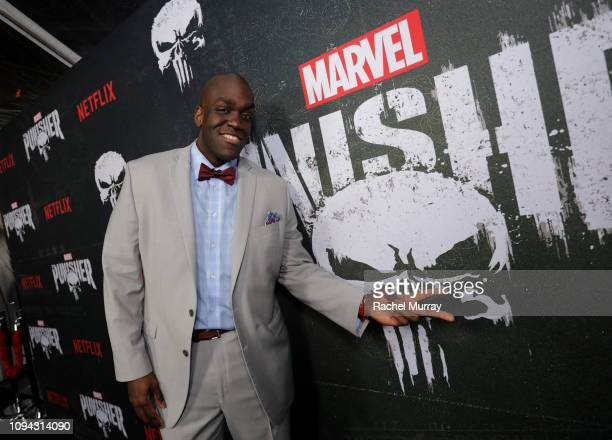 """Avery Mason attends """"Marvel's The Punisher"""" Seasons 2 Premiere at ArcLight Hollywood on January 14, 2019 in Hollywood, California."""