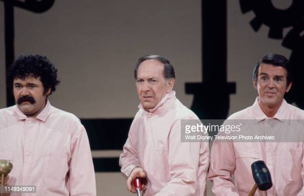 Avery Schreiber Jack Klugman Jack Burns appearing in sketch on the ABC tv series 'The Burns and Schreiber Comedy Hour'