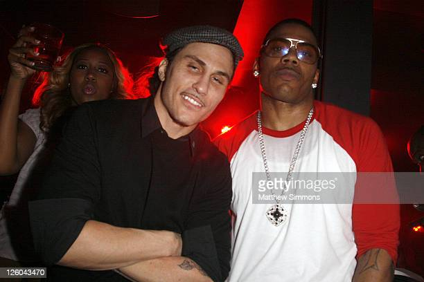 Avery Storm and Nelly attend the Haze Nightclub New Year's Eve party hosted by Nelly at Haze on December 31 2010 in Las Vegas Nevada