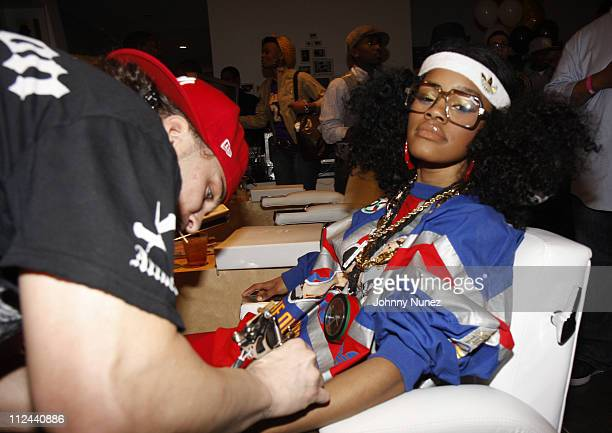 Avery Storm and Teyana Taylor attend RapUp Magazine 3rd Anniversary Celebration and Release of RapUp The Ultimate Guide To HipHop and RB April 17...