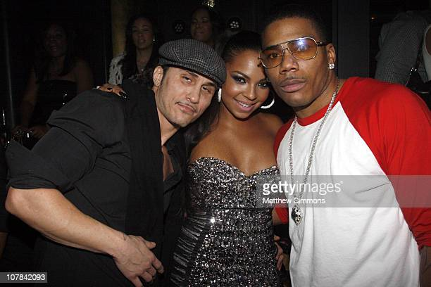 Avery Storm Ashanti and Nelly attend the Haze Nightclub New Year's Eve party hosted by Nelly at Haze on December 31 2010 in Las Vegas Nevada