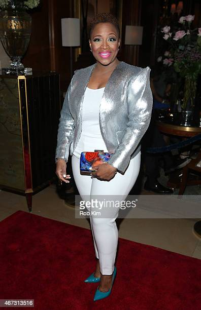 Avery Sunshine attends Aretha Franklin's Birthday Celebration at Ritz Carlton Hotel on March 22 2015 in New York City