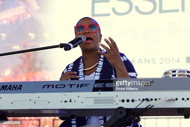 Avery Sunshine attends Road To Essence Festival at Walmart on April 26 2014 in Atlanta Georgia