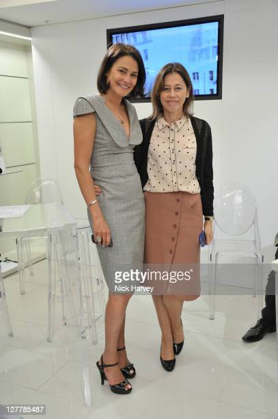 Averyl Oates and Lisa Armstrong attend Vogue Experience at Harvey Nichols on June 8, 2011 in London, England.