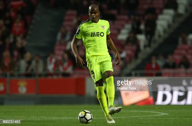Aves defender Jorge Felipe from Brazil in action during the Primeira Liga match between SL Benfica and CD Aves at Estadio da Luz on March 10 2018 in...