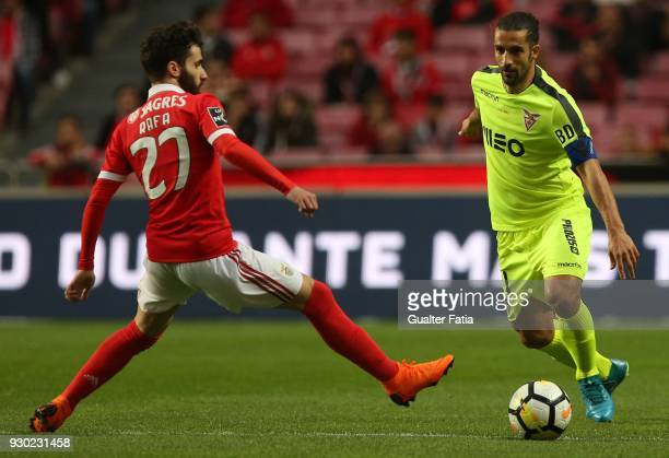 Aves defender Nelson Lenho from Portugal in action during the Primeira Liga match between SL Benfica and CD Aves at Estadio da Luz on March 10 2018...