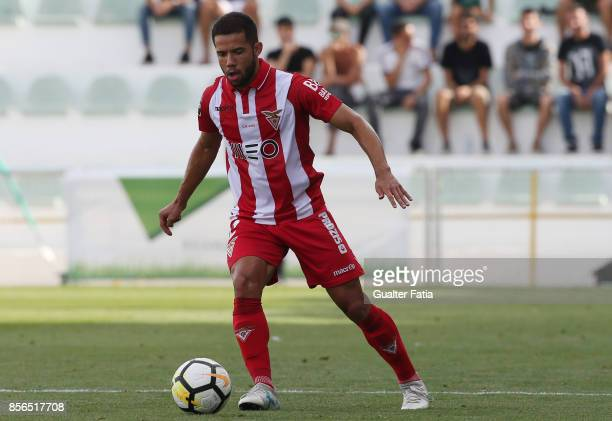 Aves defender Rodrigo Soares from Brazil in action during the Portuguese Primeira Liga match between Portimonense SC and Desportivo Aves at Estadio...