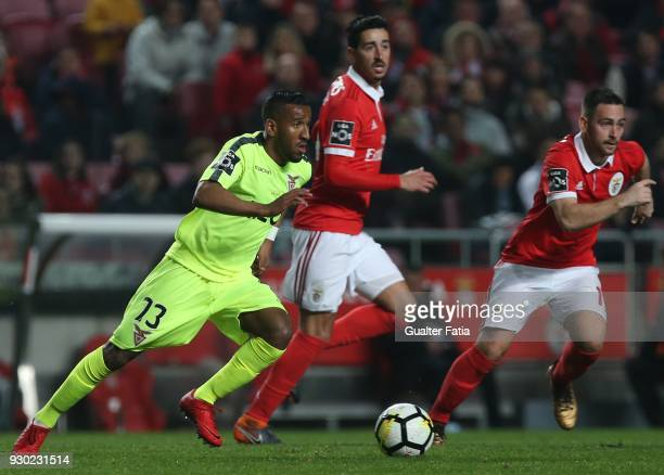 Aves forward Hamdou Elhouni from Lebanon in action during the Primeira Liga match between SL Benfica and CD Aves at Estadio da Luz on March 10 2018...