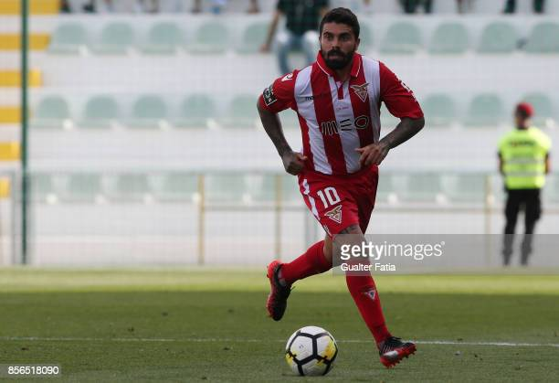 Aves forward Paulo Machado from Portugal in action during the Portuguese Primeira Liga match between Portimonense SC and Desportivo Aves at Estadio...