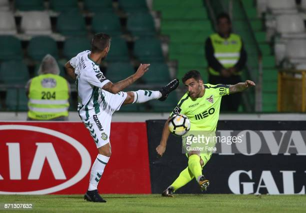 Aves forward Paulo Machado from Portugal in action during the Primeira Liga match between Vitoria Setubal and CD Aves at Estadio do Bonfim on...