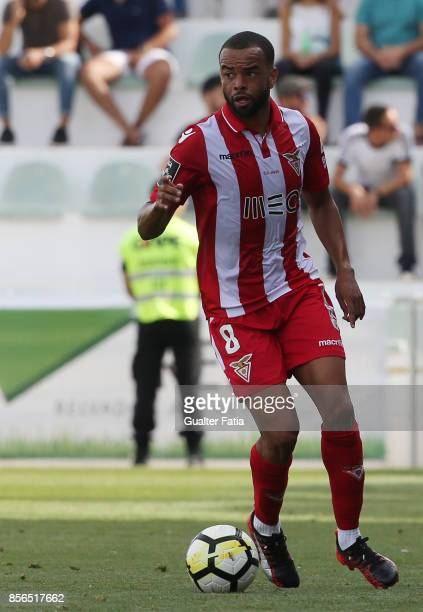 Aves midfielder Washington from Brazil in action during the Portuguese Primeira Liga match between Portimonense SC and Desportivo Aves at Estadio...