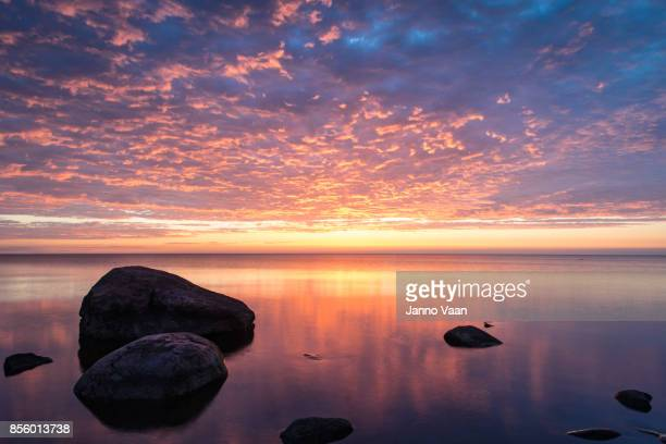 avesome view over the water - estonia stock photos and pictures