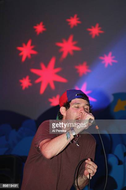 Avey Tare of Animal Collective performs during the 31st Celebrate Brooklyn Summer Season at the Prospect Park Bandshell on August 15 2009 in the...