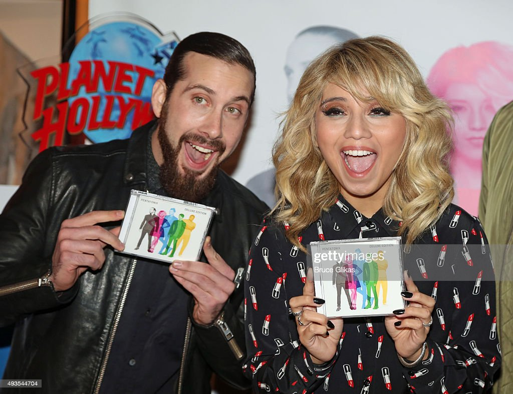 Pentatonix fan meet and greet photos and images getty images avi kaplan and kirstin maldonaldo of the group pentatonix celebrate the release of the kristyandbryce Images