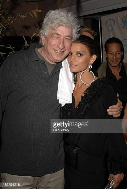 Avi Lerner and Jessica Simpson during 2007 Cannes Film Festival - In the Hands of Gods Nike Party at Century Club in Cannes, France.