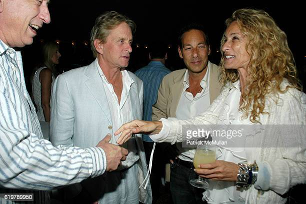 Avi Lerner, Michael Douglas, Henry Winterstern and Ann Dexter Jones attend After Party Dinner For First Look Studios KING OF CALIFORNIA at Home of...