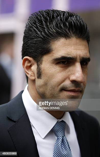 Avi Navama former bodyguard for late Russian oligarch Boris Berezovsky arrives at the Guildhall in Windsor west of London on March 26 2014 Russian...