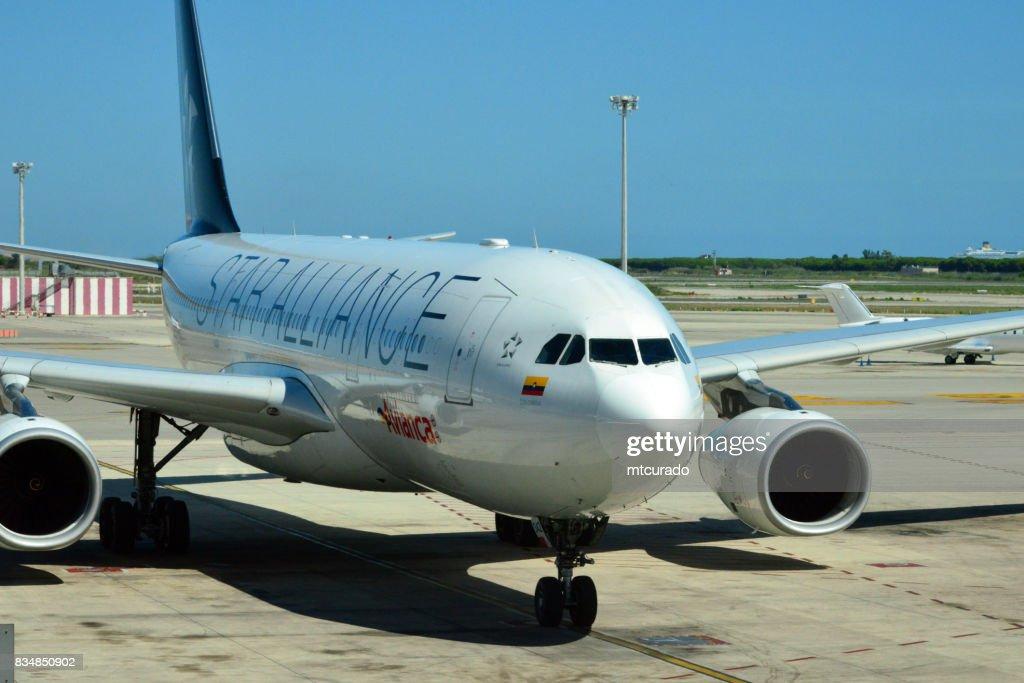 Avianca Airbus A330 In Star Alliance Livery Barcelonael Prat