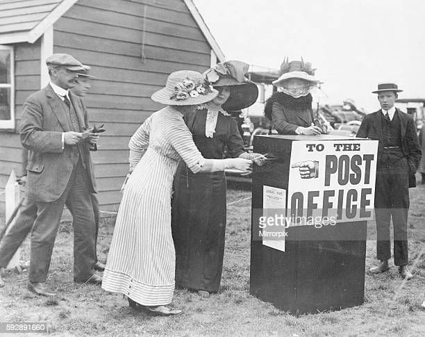 Aviation Air Mail September 1911 People line up to post their letters in one of the first Air Mail letter boxes