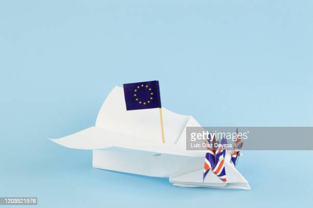 aviation and brexit, could affect aviation if the uk leaves th eu without a deal? - fuselage stock pictures, royalty-free photos & images