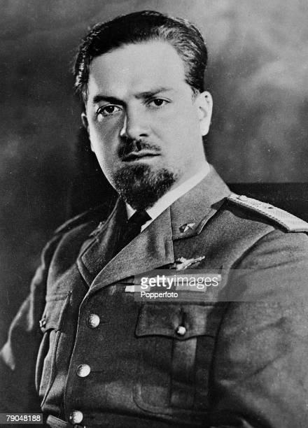 Aviation, Politics, Italy, pic: circa 1930's, Italo Balbo, Mussolini's Air Marshal, who led a squadron of Savoia flying boats across the Atlantic...