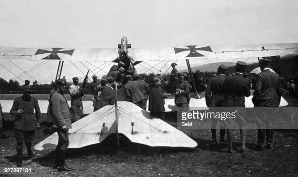 Aviators of the Great War. WWI. 1917. On May 19, the Zugsfurher Rudolf Jambor was able to bring to the ground intact near Feltre his Br CI 29.70 with...