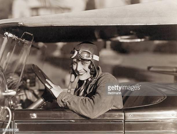 Aviatrix Ruth Elder Driving Car