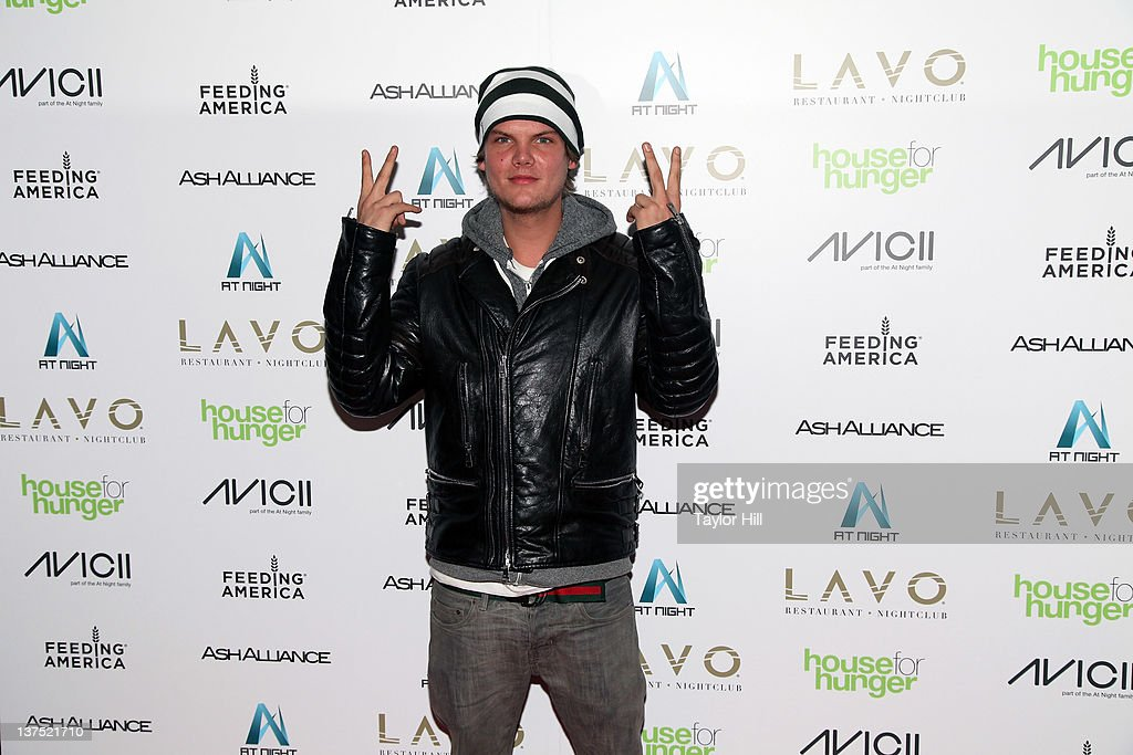 Avicii attends his benefit for Feeding America at LAVO on January 21, 2012 in New York City.