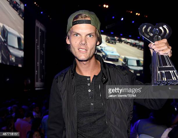 Avicii backstage at the 2014 iHeartRadio Music Awards held at The Shrine Auditorium on May 1 2014 in Los Angeles California iHeartRadio Music Awards...