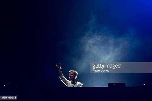 Avicii closes the Mundo stage at Rock in Rio on May 29 2016 in Lisbon Portugal